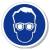 安全标识 机械设备标志 必须带防护眼镜 圆形图标70mm