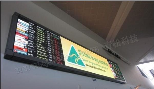 青松科技室内全彩LED显示屏进驻悉尼机场