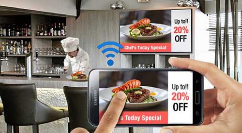 三星智能数字标牌电视玩转餐厅时尚新体验