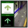 供应买地铁不锈钢箭头 屏蔽门上下车发光标识