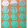 电铸镍标,超薄金属标牌,银箔字