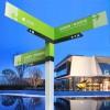 小区指路牌立式户外道路指示牌分流导向牌公园路标牌景区指引牌
